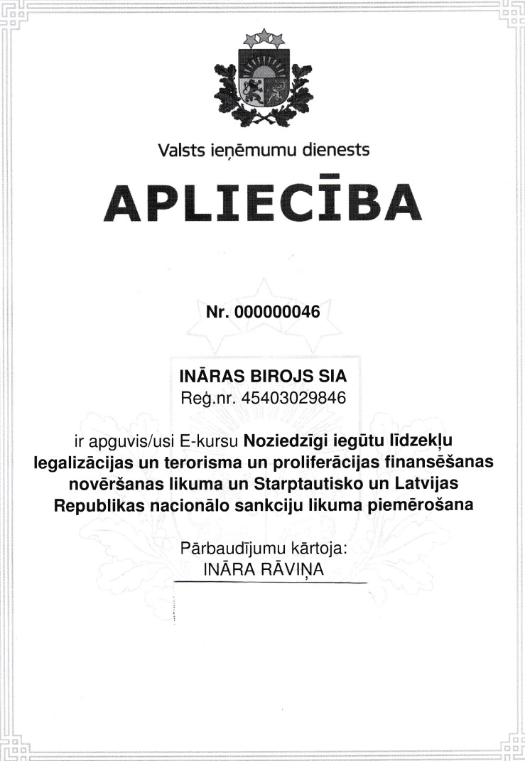 sertifikats